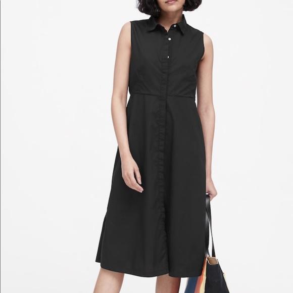 Banana Republic Dresses & Skirts - NWT Banana Republic Black Midi Shirt dress. Size 4